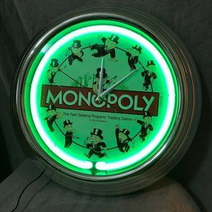 Hasbro Monopoly The Fast Dealing Trading Clock